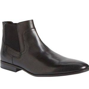 Men's Calvin Klein Black Leather Clarke Chelsea Boot